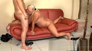 Fat grandma Vass gets licked and dicked and rubs her hard clit