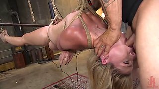 Blonde girl next door lisey sweet brutal anal fuck and rope