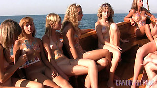 Young teengirls at sea