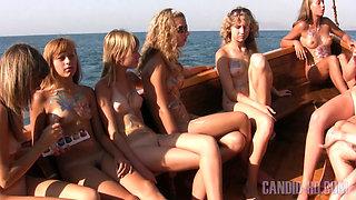 Young teengirls at sea