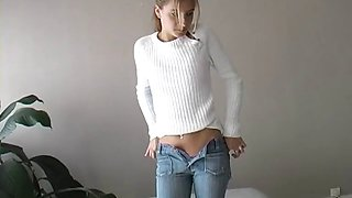 shy teen first video casting