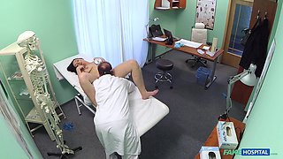 Naughty doctor slides his prick in tight pussy of Mortica Verdic