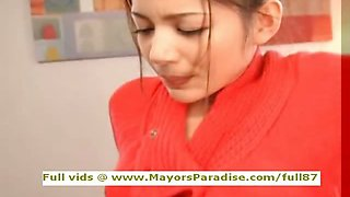 Tina Yuzuki innocent Chinese girl blowjobs and gets cumshoot