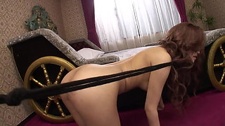 Young beauty gets her hairy bush teased with toys