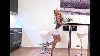shiny pantyhose white dress
