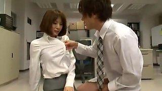 Horny Japanese chick Yuma Asami in Amazing Secretary JAV clip