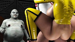Voluptuous 3D bombshell has a hung monster plowing her pussy