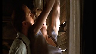Elisabeth Shue being groped from behind in this hot scene