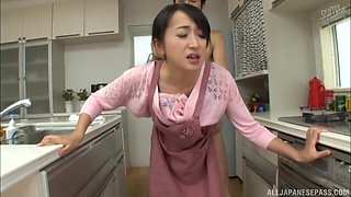 Takita Eriko is a hot housewife attacked by a pussy craving man