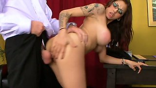 Hot tempered boss fucks nasty twat of super sexy secretary Adrenalynn