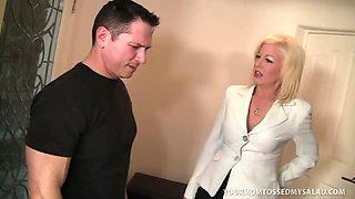 Busty MILF Sindi Star Fucks Son\'s Boss n\' Tosses Salad!