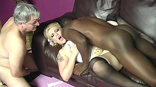 Pretty Candy Monroe Has Interracial Sex In Front Of Her Cuckold