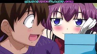 Anime maid Kiriha pleases her master