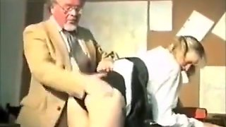 Two naughty schoolgirls spanked