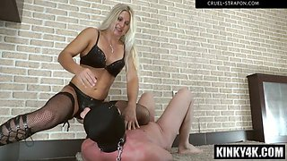 Hot mistress femdom and cumshot