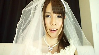 Japanese bride gets the penetration action just after the wedding