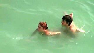 mystic Voyeur Beach Sex Movie Scene Pair Filmed Fucking In Water