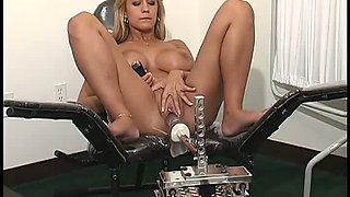 Several sex toys are used by doctor while examining busty Trina Michaels