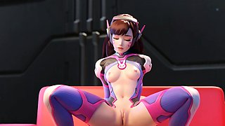 3D Animation Shy DVa Gets Thumped by a Huge Cock