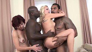 Black men Fuck White Women CockSuck Swallow Interracial