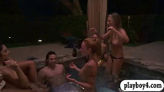 cougars are horny men at the pool