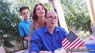partners ally fucks his cheating mom Awesome 4th Of July Threesome
