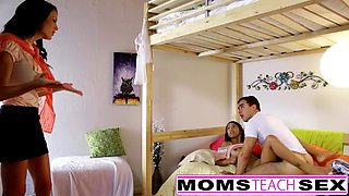 MomsTeachSex - Mom And Daughter Play With Dad Gone