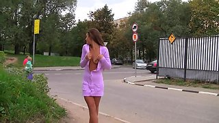 russian babe in public street -bymonique