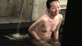 Attractive Oriental ladies enjoy a nice bath on hidden cam