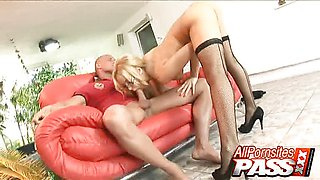 Kinky Blonde Aleska Diamond Haves A Cock Rodeo