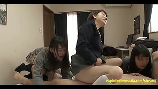 Jav Idol Schoolgirls BJ Face Sit Fuck One Lucky Guy Really Cute Teens Who Take Turns Riding In Uniform