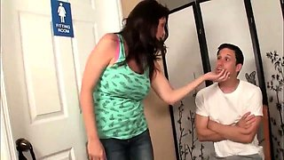 ExPornTube- Hot milf giving handjob to her BF