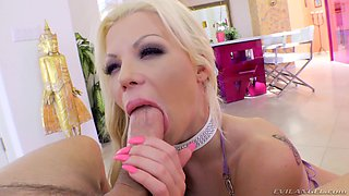 Barbie Sins spreads her big ass to get her asshole stretched