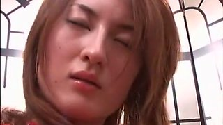 Exotic Japanese whore in Hottest Close-up, Latex JAV scene