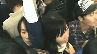 Schoolgirl groped by Stranger in a crowded Educate 08