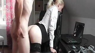 Hot secretary needs some hard dick