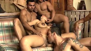 Gang bang with latin pregnant girl, part 1