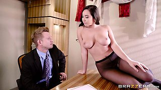 Karlee Grey is a dick craving brunette in black tights