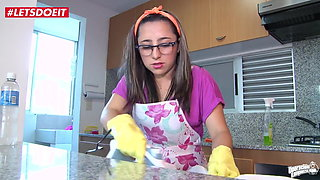 LETSDOEIT - Latina Teen Cleaning My Apartment In Colombia!