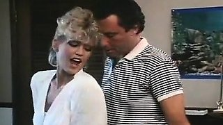 Amber Lynn, John Leslie in amazing retro sex video with