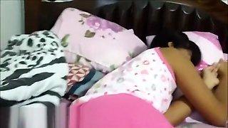 sleeping gets woken up for throatpie creamthoat