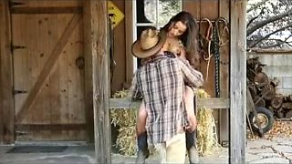 EXCITEMENT-HD Cowboy & Cowgirl have ranch sex