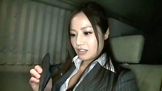 Fabulous Japanese chick Minami Asano in Best Car, Secretary JAV movie