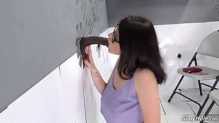 teen michele at bbc gloryhole
