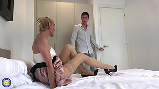 Son comes to help mom awesome taboo fuck