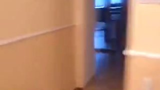 Slut getting mouth and pussy abused in bathroom