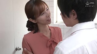 Hot japonese mature with his lover