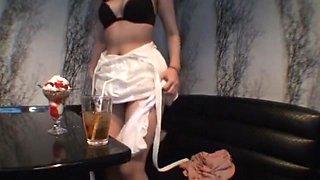 Exotic Japanese slut Haruki Sato in Incredible Creampie/Nakadashi, Close-up JAV video
