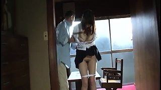Pretty Japanese schoolgirl gets tied up and drilled rough