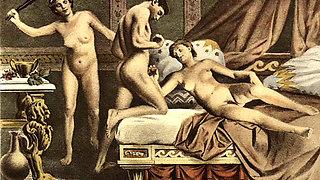 Vintage classical hardcore sex art